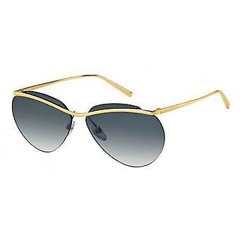 Sunglasses women for thin half edge gold/grey