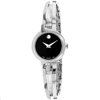 Movado Women's Amorosa Black Dial Watch - 607153
