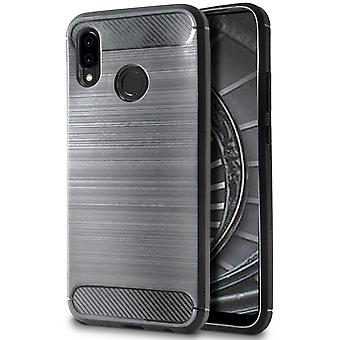Shell per Huawei P20 Lite Grey Carbon Fiber Armor Case Protection