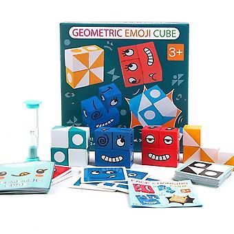 Figures géométriques correspondant face changement cube blocs de construction - Intelligence