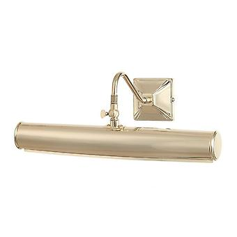 2 Light Large Picture Wall Light Polished Brass, E14