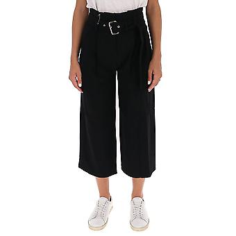 Michael Por Michael Kors Mf03h3uenx001 Women's Black Acetate Pants