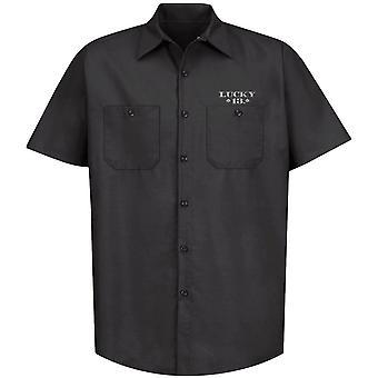 Lucky 13 Men's Short Sleeve Shirt Cisco