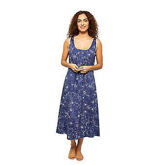 Cyberjammies Stella 4615 Mujeres's Navy Mix Celestial Print Nightdress