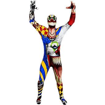 Kids Age 6 - 12 Years Clown Morphsuit Halloween Fancy Dress Costume