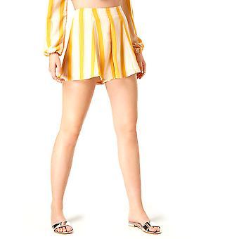 Love Fire   Juniors' Striped High-Waist Flare Shorts