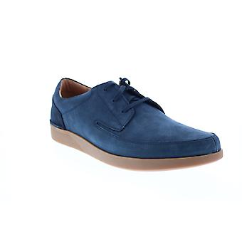 Clarks Oakland Craft  Mens Blue Nubuck Lifestyle Sneakers Shoes