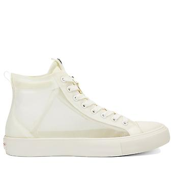 Ed Hardy Naked Clear High Top Trainers - Off White