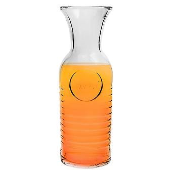 Bormioli Rocco Officina 1825 Glass Water Carafe - 1.2 Litre Serving Jug - Made in Italy