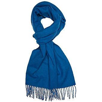 Ties Planet Plain Dark Blue Men's Long Wool Scarf