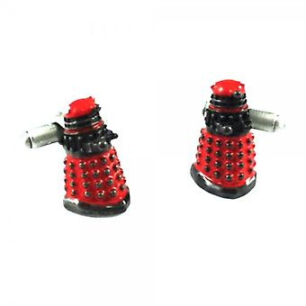 Ties Planeta Doctor Who 3d Dalek Red Novelty Cufflinks