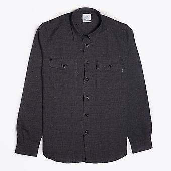 PS Paul Smith  - Woven Grid Pattern Shirt - Black