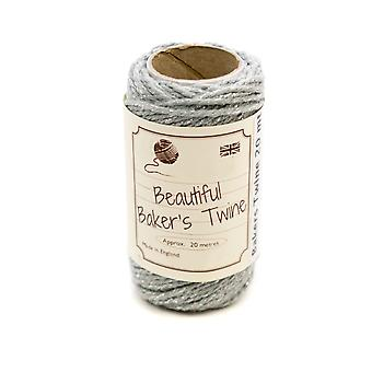 20m Silver & Silver Sparkle Natural Bakers Twine for Crafts & Gift Wrapping