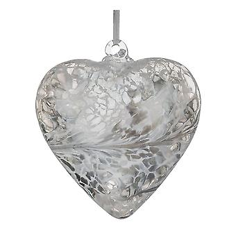 8cm Friendship Heart - Pastel Silver - Unique Gift and Hanging Decoration