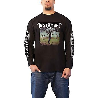 Testament T Shirt Practice What You Preach new Official Mens Black Long Sleeve