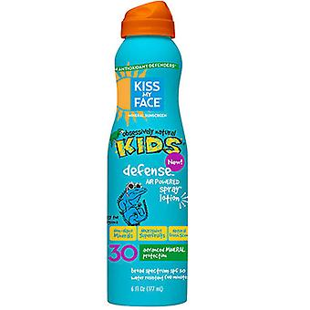 Kiss My Face Kids Defense Mineral SPF 30 Continuous Spray Lotion, 6 oz