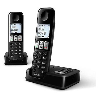 Philips Cordless Landline Phone with Caller ID Answering Machine - Two Handsets