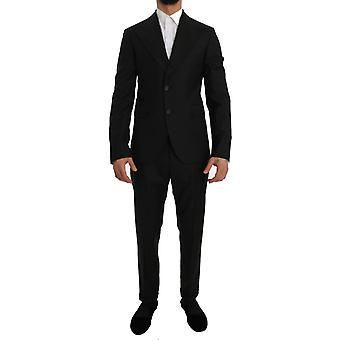 Green wool two button slim fit blazer suit