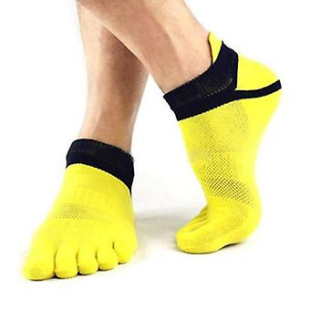Outdoor Men's Sokken Ademende Katoenen Teen Sokken, Sports Cycling Runnin Toe