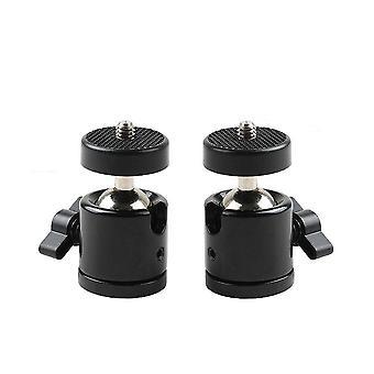 "Eggsnow 1/4"" mini stativ kugle hoved beslag indehaveren montere ballhead for DSLR kamera-2stk"
