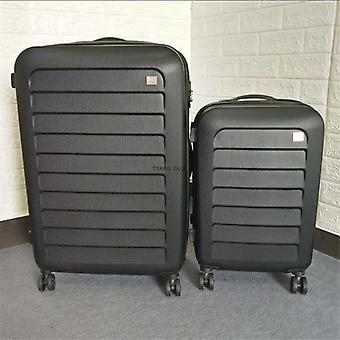 Expandable Spinner Trolley Suitcase Red Black Rolling Luggage With Wheels