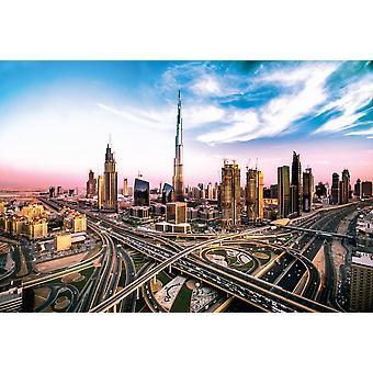 Veggmaleri Dubai skylines