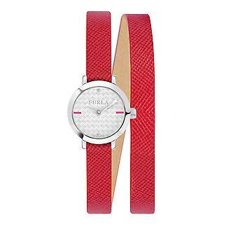 Furla R4251107502 Vittoria 21 Mm 2H med sølv dial Ruby Watch