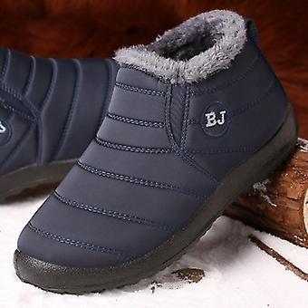 Winter Boots, Fur Snow Plush, Footwear Warm Waterproof Men Shoes