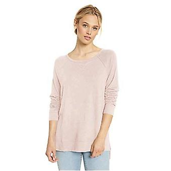 Brand - Daily Ritual Women's Cozy Knit Open Crewneck Pullover, Pink , ...