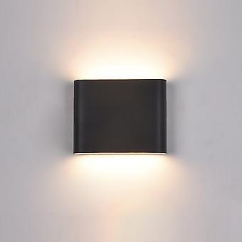 Moderne LED Buiten wandlamp Zwart, Warm Wit 3000K 360lm, IP44