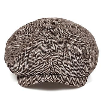 New Fashion Brown Plaid Beret Hip Hop Hats For Autumn/winter