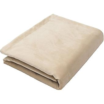 Mcalister textiles mat champagne velours d'or jeter couverture