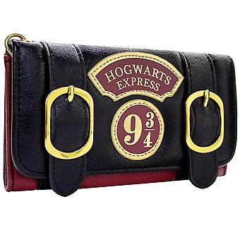 Harry Potter Hogwarts Express Double Buckle Tri-Fold Purse
