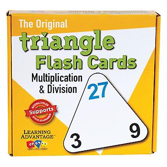 Triangle Flash Cards, Multiplication & Division
