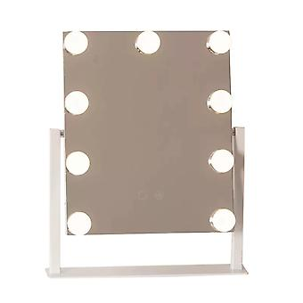 YANGFAN 9 أضواء سطح المكتب القابلة للتدوير من جانب واحد مرآة كاملة ماكياج مرآة