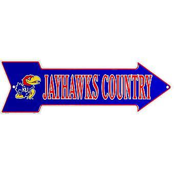 Kansas Jayhawks NCAA Jayhawks Country Arrow Sign