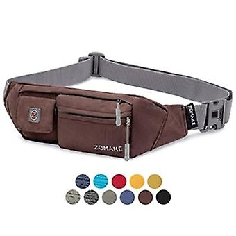 Slim Soft Polyester Water Resistant Waist Bag Pack per uomo e donna