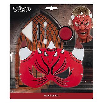 Face paint set Devil Junior Red