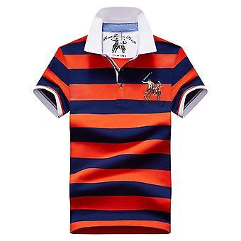 Polo Shirt Männer, Sommer Kurzarm Casual Stand Kragen T-Shirts