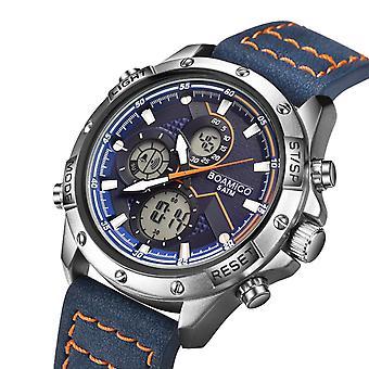 BOAMIGO F546 Two Time Zones Dual Display Watch LED Light Chronograph Alarm Men