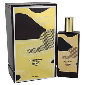 Italian leather eau de parfum spray (unisex) by memo 541312 75 ml