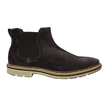 Timberland Naples Trail Chelsea Brown Nubuck Leather Slip On Mens Boots A1RNF
