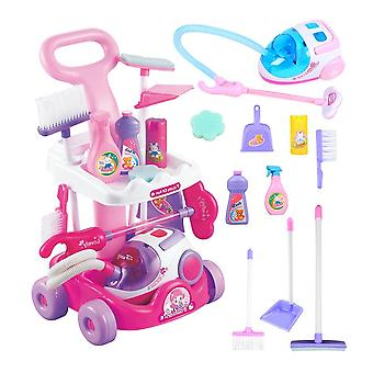 Gardening Trolley Simulation Repair Kids Cleaning Set, Watering Shovel,