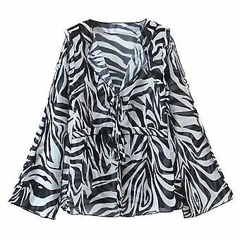 Zebra Printed Beach Cover Up