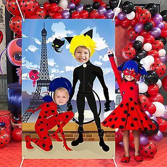 Fotografie achtergrond thema verjaardag partij decoraties met lint