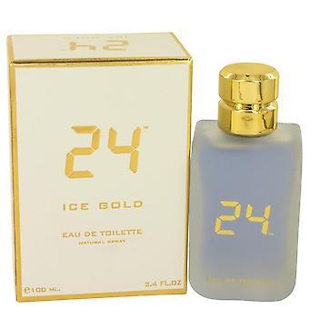 24 Ice Gold Eau De Toilette Spray By Scentstory 3.4 oz Eau De Toilette Spray