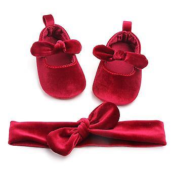 プリンセス新生児の赤ちゃん靴ベルベット