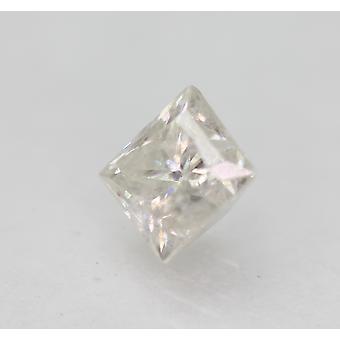 Sertifioitu 0,72 karat G SI3 Princess Enhanced Natural Diamond 4.71x4.48mm 2VG