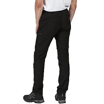 Regatta Herren Highton Rip Off Zip Off Beine Walking Wanderhose Hose - schwarz
