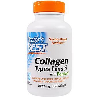Doctor's Best Collagène de types 1 et 3 avec Peptan 1000 mg 180 comprimés